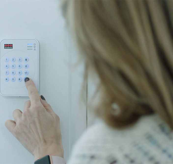 Keypad Entering Code Securitas Home